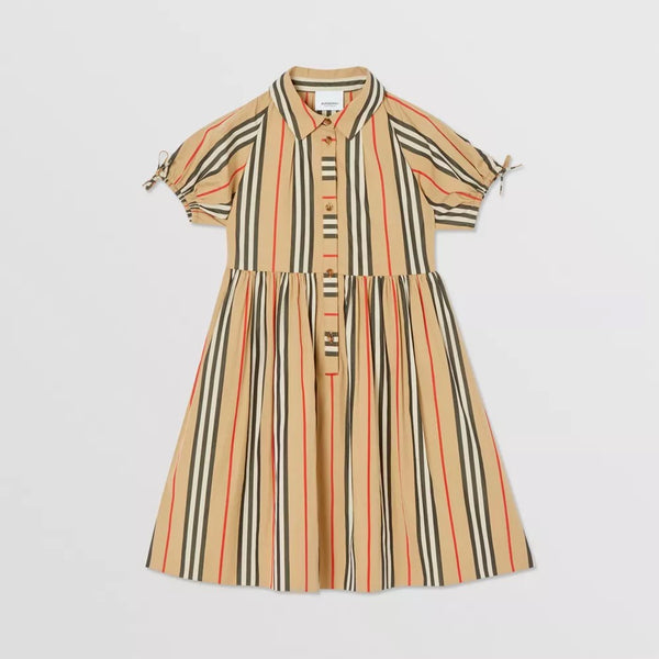 Girls Archive Beige Cotton Dress