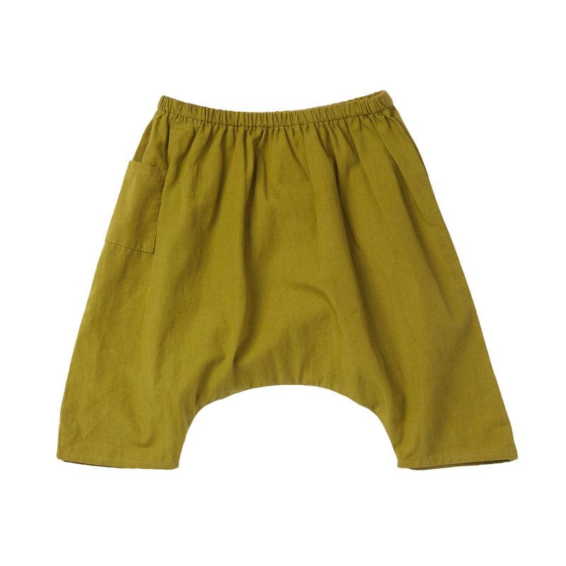 Baby Olive Green Cotton Woven Trousers - CÉMAROSE | Children's Fashion Store