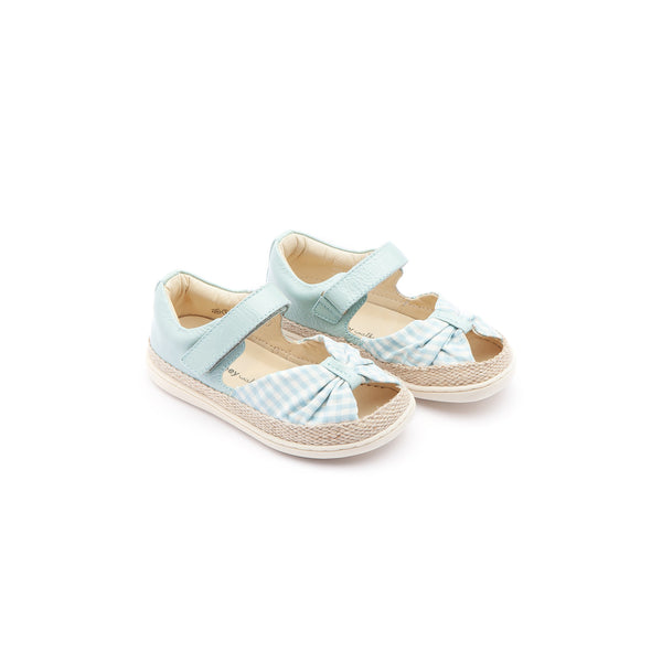 Baby Girls Cyan Canvas Sandals
