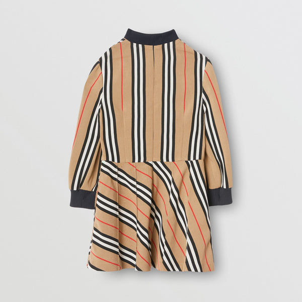 Girls Archive Beige Stripes Dress