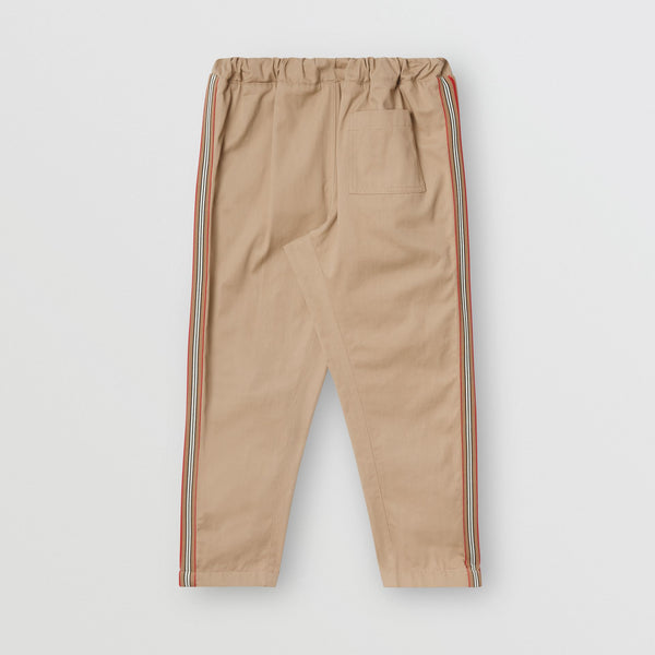 Boys Beige Cotton Trousers