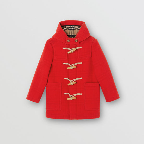 Girls Bright Red Wool Coat
