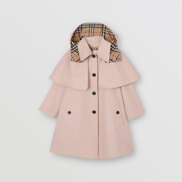 Girls Light Pink Cotton Coat