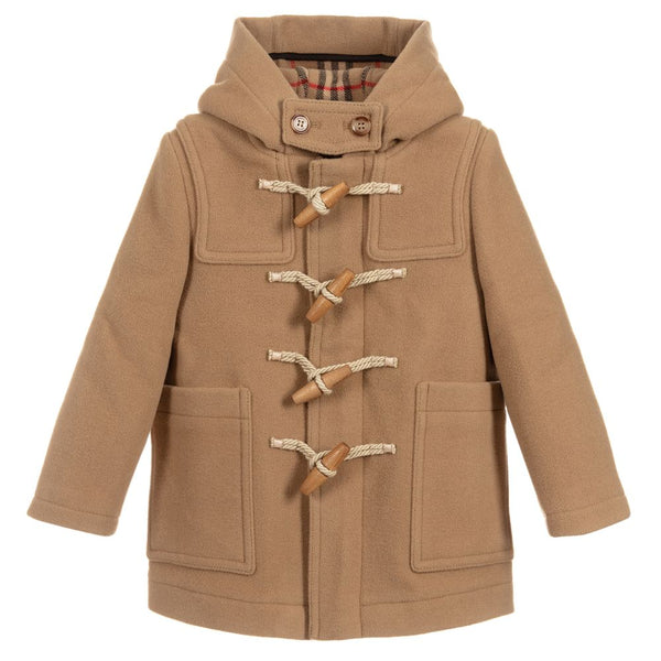 Boys Archive Beige Wool Coat