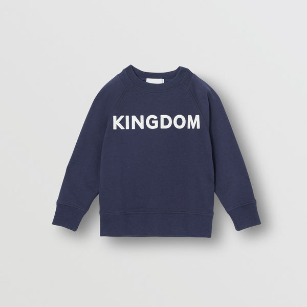 Boys Blue Logo Cotton Sweater
