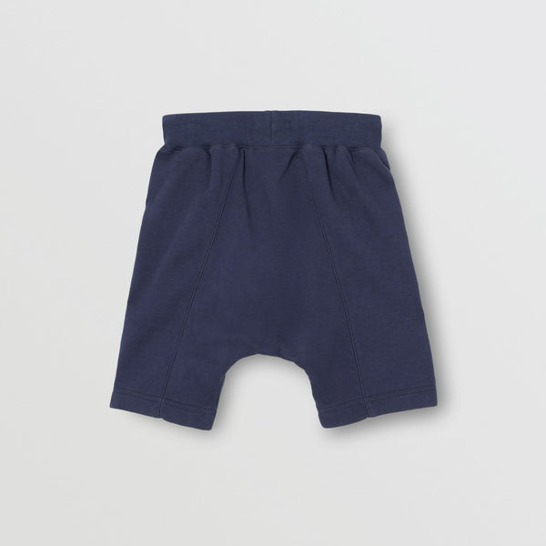 Boys Blue Logo Cotton Shorts