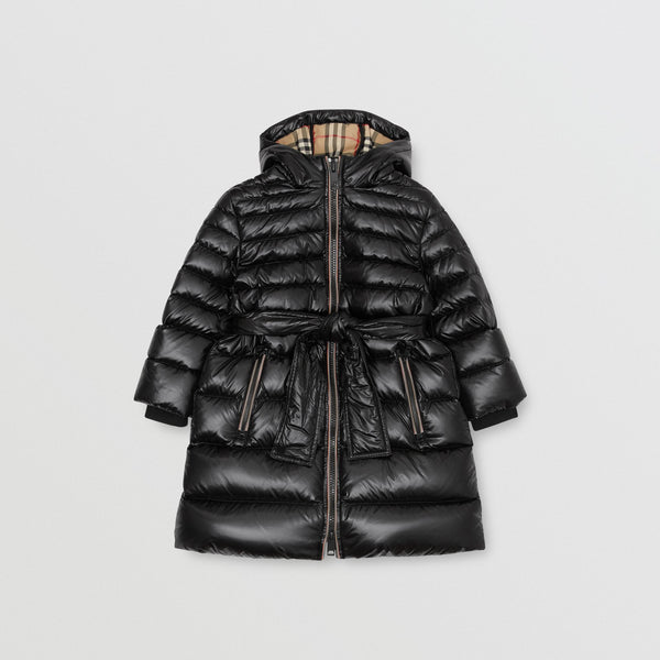 Girls Black Padded Down Coat