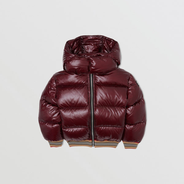 Girls Wine Red Padded Down Jacket
