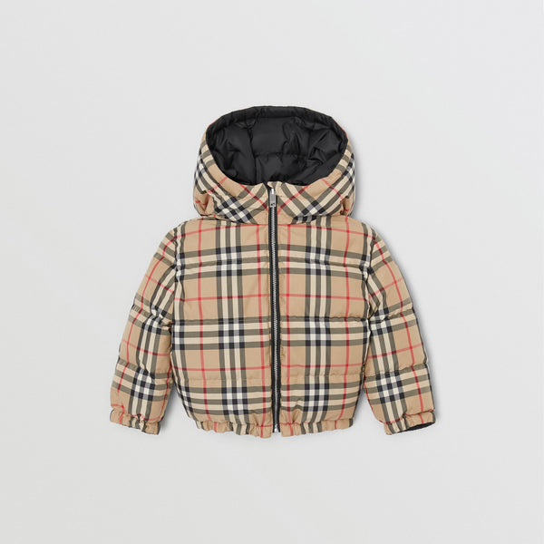 Baby Boys Black Reversible Padded Down Jacket