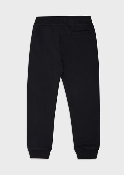 Boys Blue Logo Cotton Trousers
