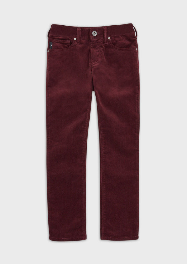 Boys Wine Red Corduroy Trousers