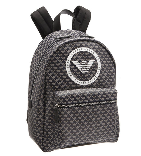 Boys Brown Logo Backpack