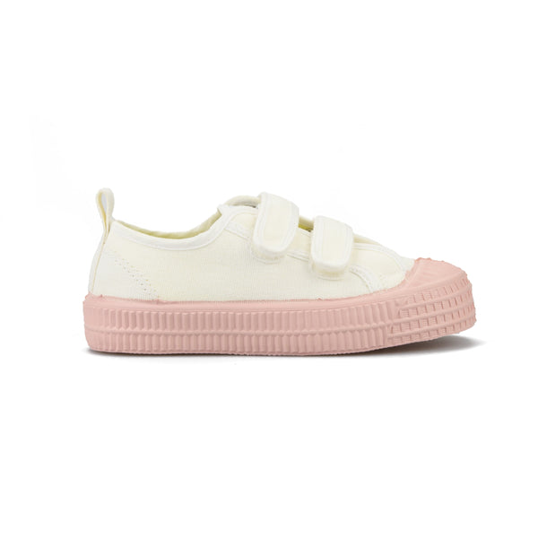 Girls White & Pink Velcro Shoes