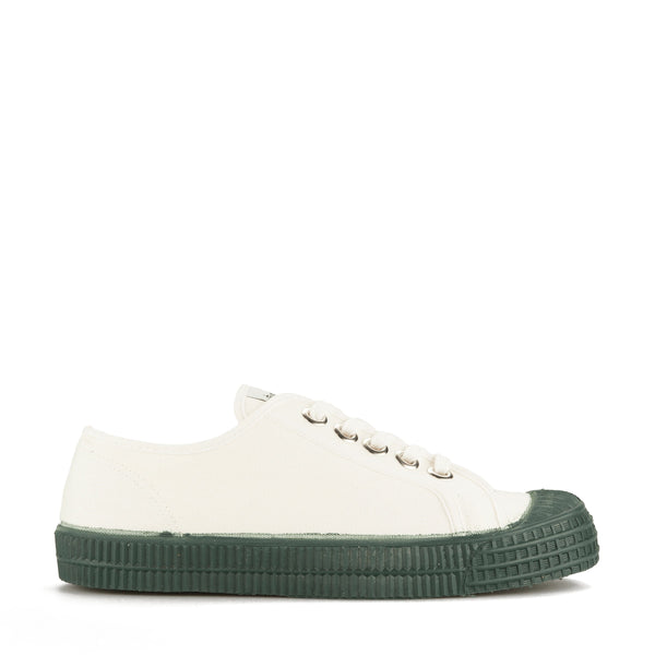Boys White & Green Shoes