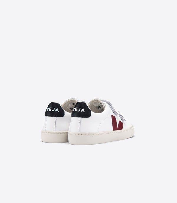 "Boys & Girls White ""Esplar"" Velcro Leather Shoes"