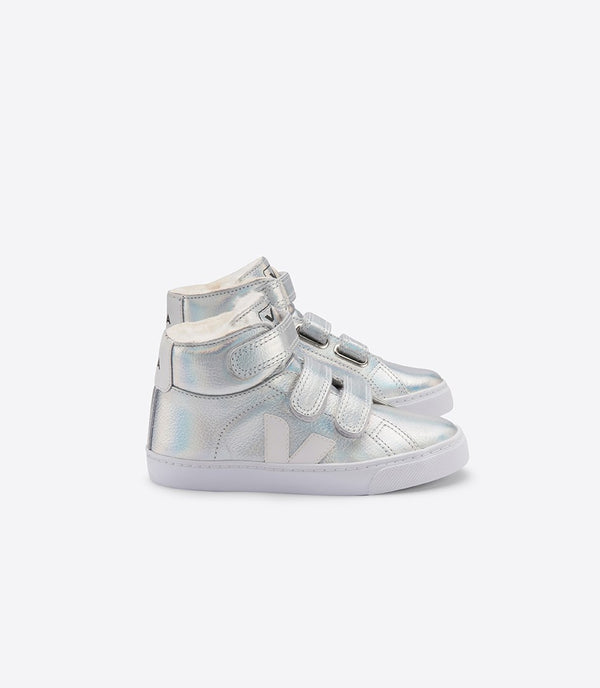 "Baby Boys & Girls Sliver ""ESPLAR MID"" Leather Shoes"