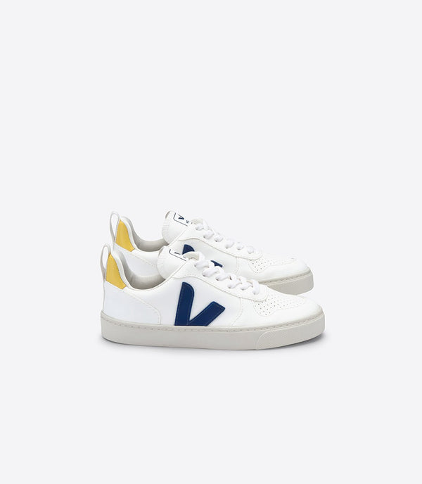 "Boys White ""V-10"" Corn Leather Shoes"