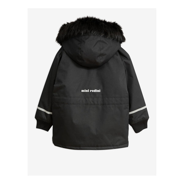 Boys & Girls Black Hooded Jacket