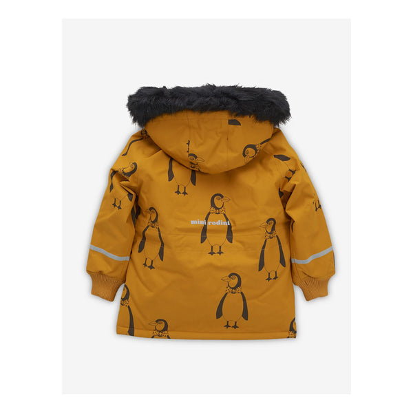 Boys & Girls Brown Penguin Hooded Jacket