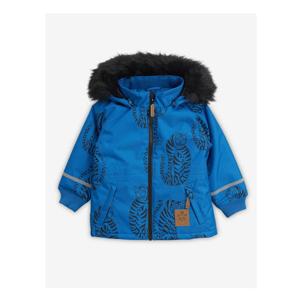 Boys & Girls Blue Tiger Hooded Jacket