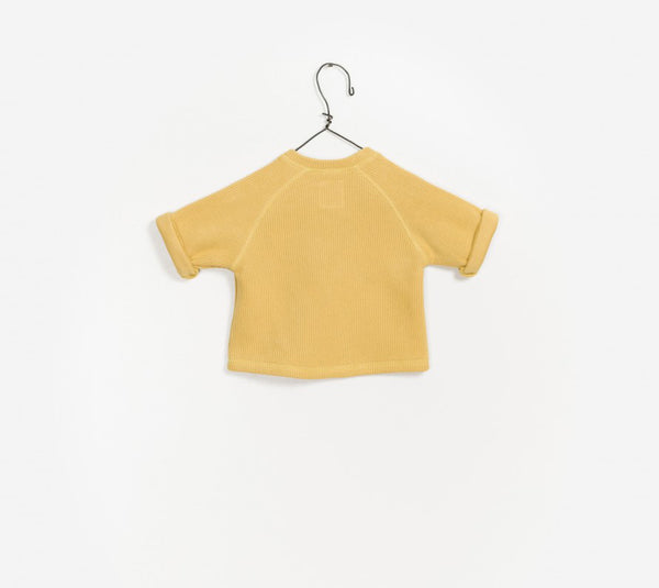 Baby Boys Yellow Cotton Sweater