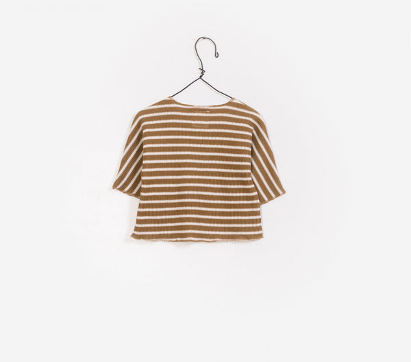 Baby Boys Coffee Stripes Cotton Sweater