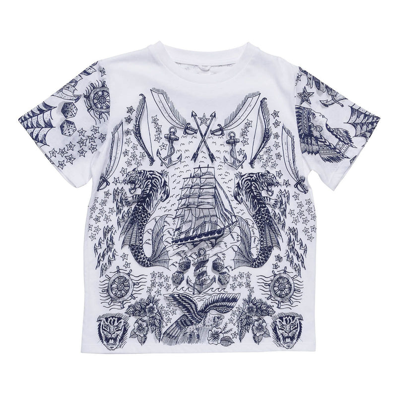 Boys White Cotton Yeti Printed T-Shirt - CÉMAROSE | Children's Fashion Store