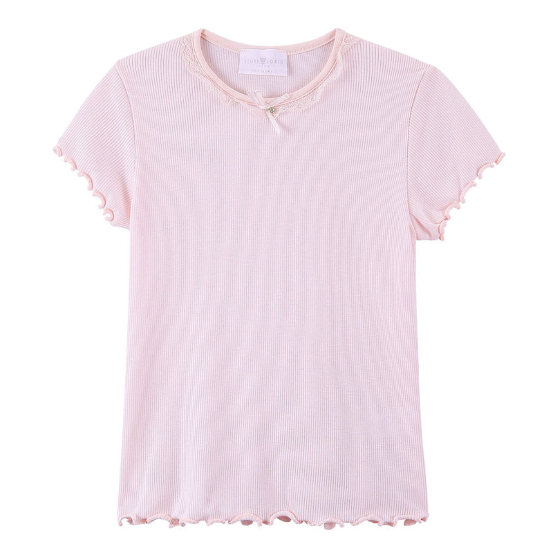 Girls Light Pink Top&Bottom  Pyjama - CÉMAROSE | Children's Fashion Store - 3