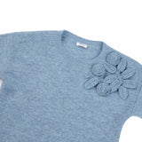 Girls Light Blue Wool Sweater