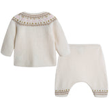 Baby Girls Ivory Wool Sets - CÉMAROSE | Children's Fashion Store - 2
