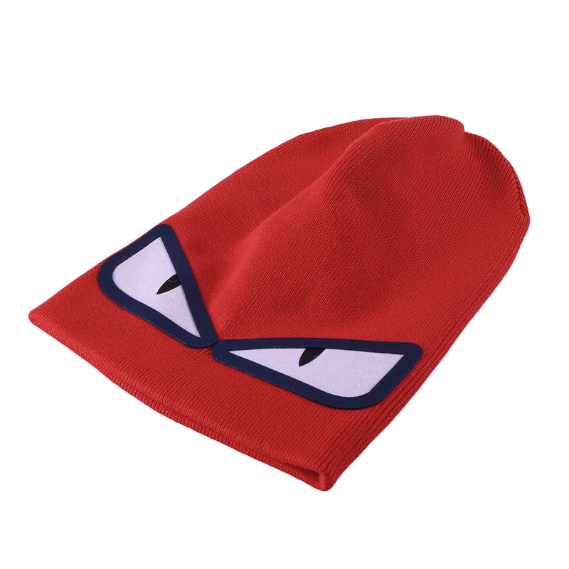 Boys Light Red Knitted 'Monster' Eyes Printed Hat - CÉMAROSE | Children's Fashion Store - 3