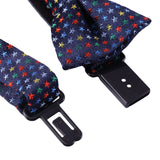 Baby Boys Navy Blue Silk Bow Ties With Colorful Spot Trims - CÉMAROSE | Children's Fashion Store - 3