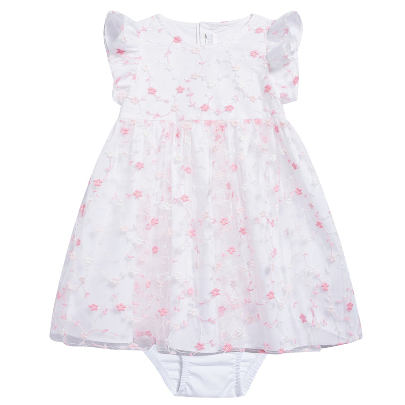 Baby Girls Strong Pink Cotton Dress