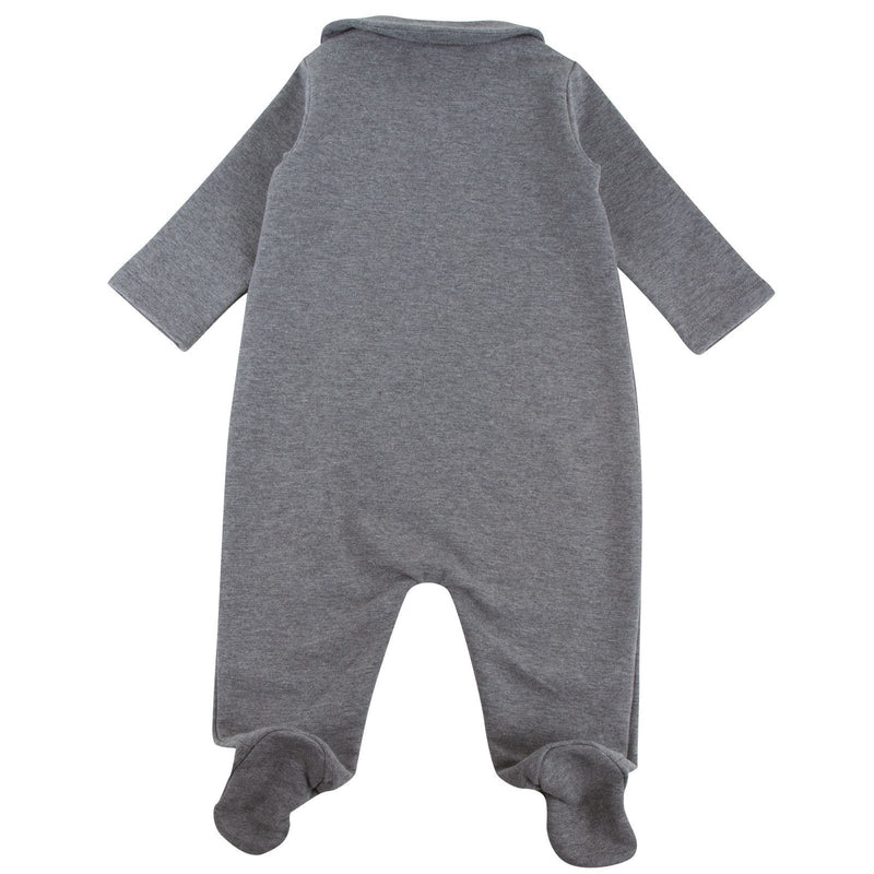 Baby Girls Dark Grey Monster Printed Babygrow - CÉMAROSE | Children's Fashion Store - 3