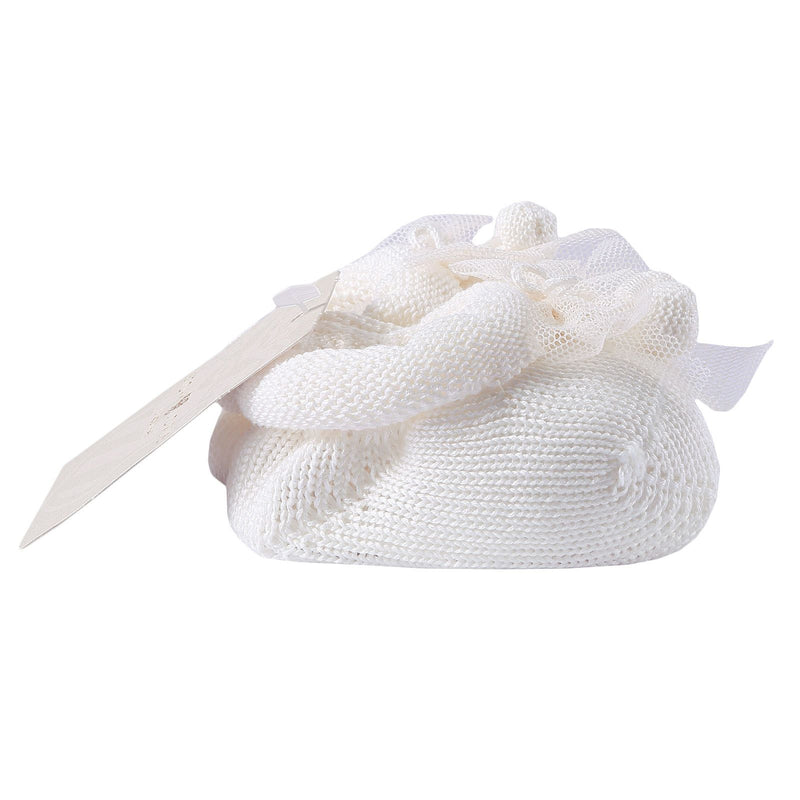 Baby White Knitted Cotton Shoes&Hair Band Gift Set - CÉMAROSE | Children's Fashion Store - 3