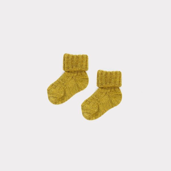 Baby Golden Straw Cotton Socks