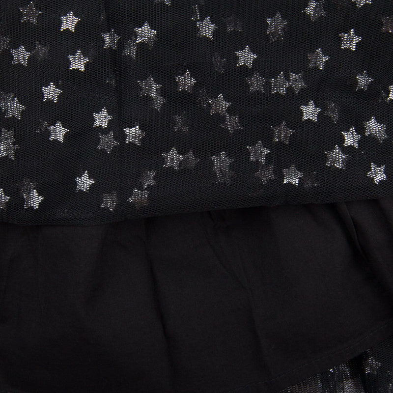 Honey Girls Black Tulle Skirt With Silver Stars - CÉMAROSE | Children's Fashion Store - 3