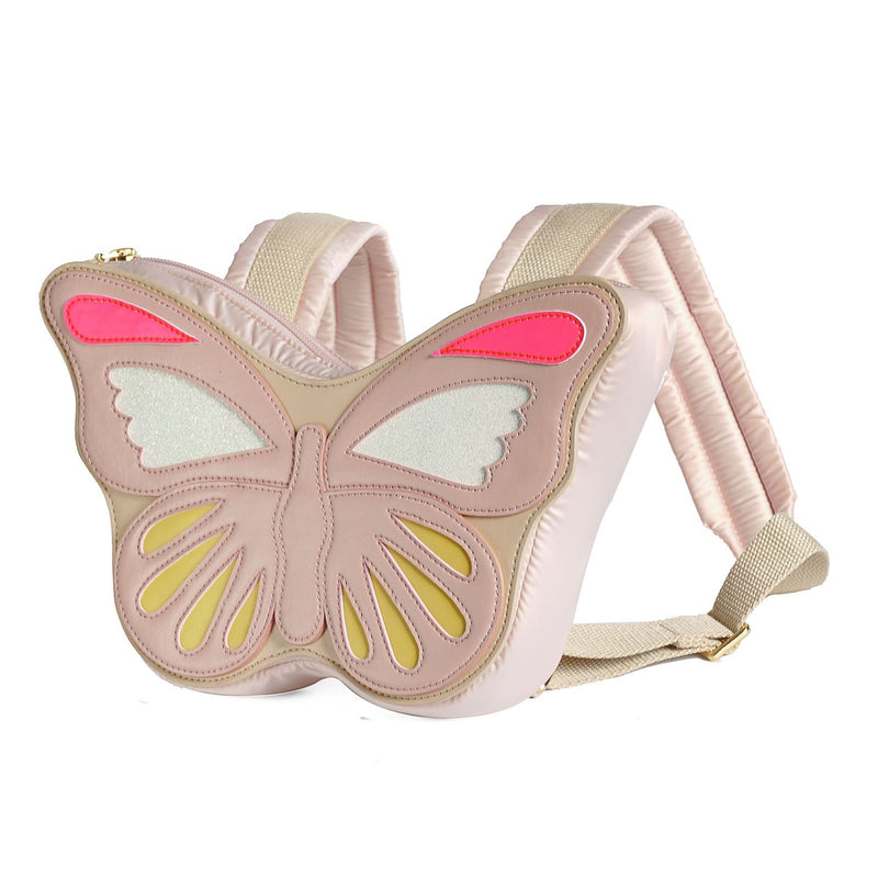 Girls Pink Butterfly Shape Backpack - CÉMAROSE | Children's Fashion Store