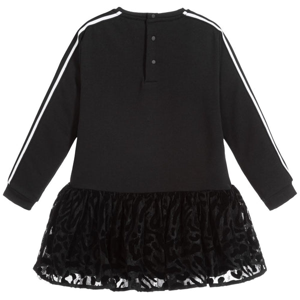 Baby Girls Black Jersey & Tulle Dress