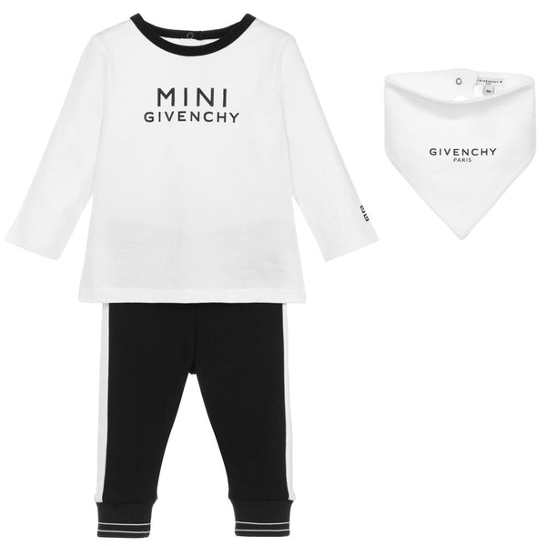 Baby Boys & Girls White Logo Cotton Set