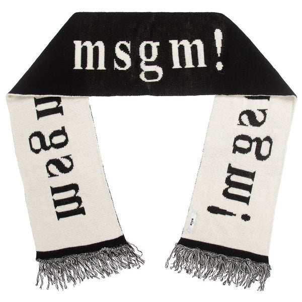 Boys & Girls Black Knitted Scarf