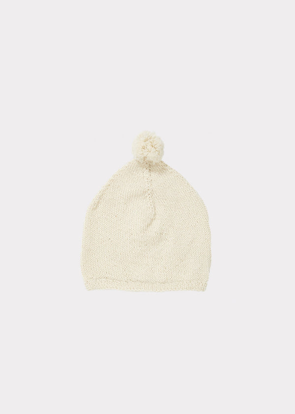 Girls Beige Alpaca Hat
