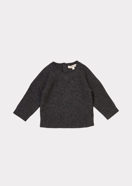 Baby Boys Dark Grey Cashmere Sweater