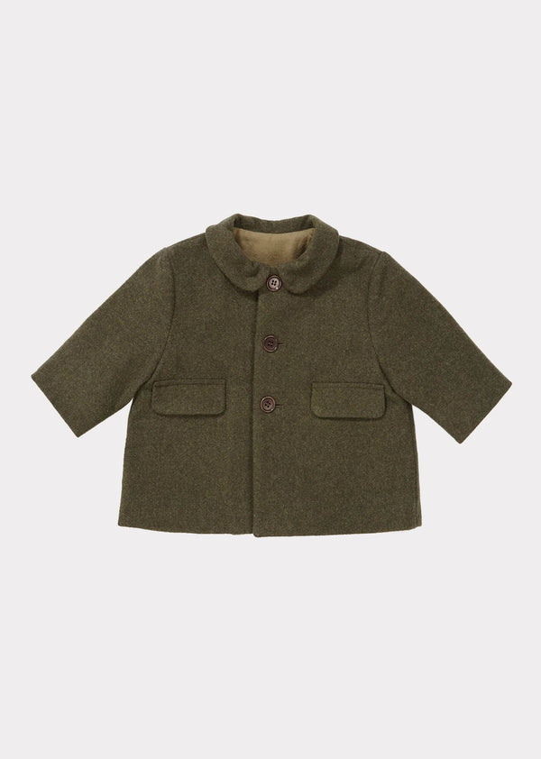 Baby Boys & Girls Khaki Wool Coat