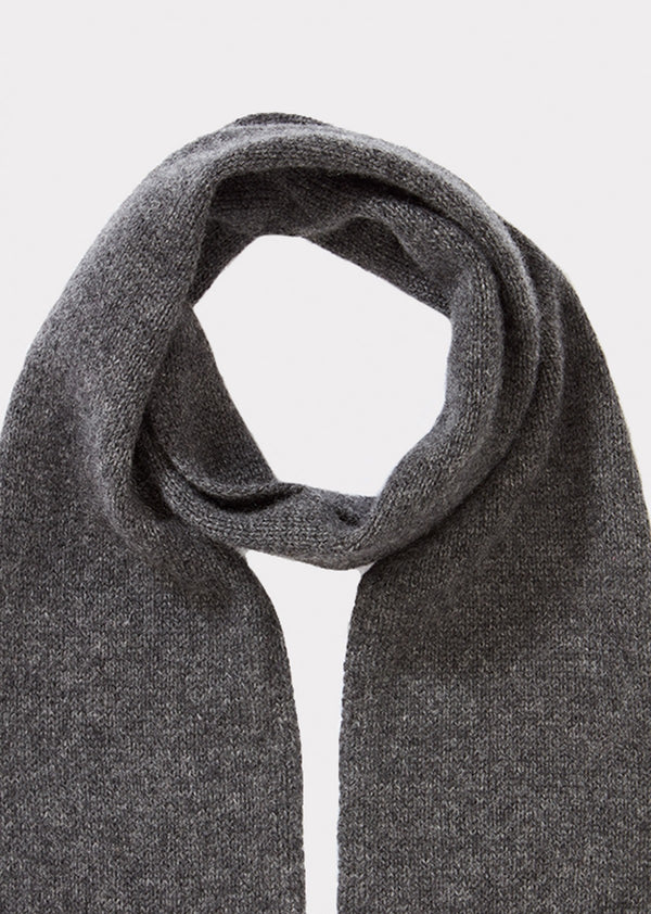 Boy & Girls Grey Cashmere Scarf