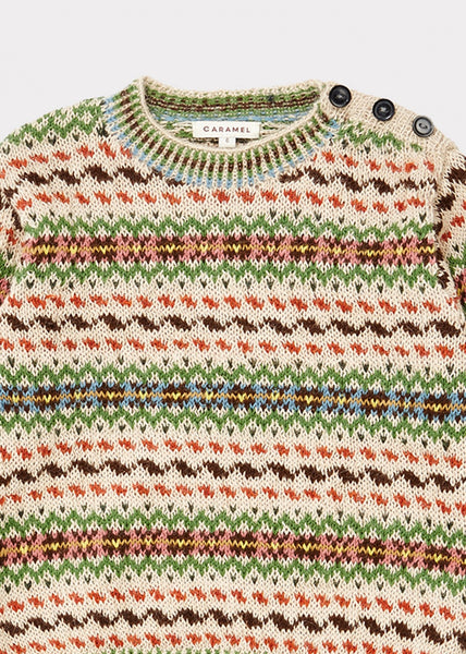 Boys & Girls Green Alpaca Wool Sweater