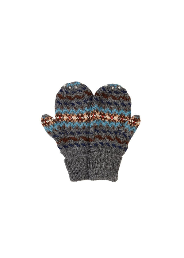 Boys & Girls Grey Alpaca Gloves