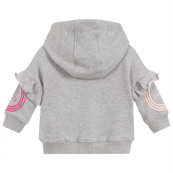 Baby Girls Grey Hooded Cotton Top
