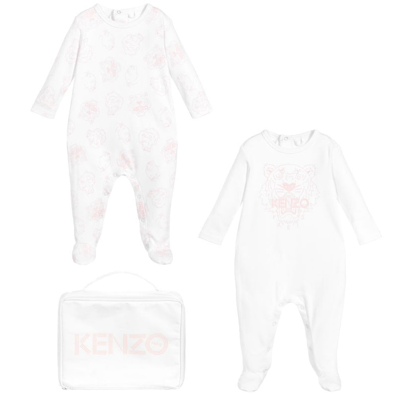Baby Girls White Cotton Babysuit Gift Set