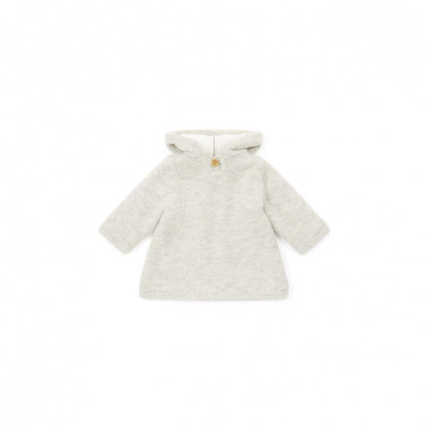Baby Girls Beige Hooded Top